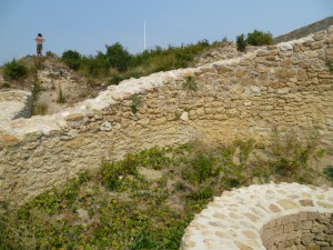 Medieval settlement, near top of Pyramid of the Sun