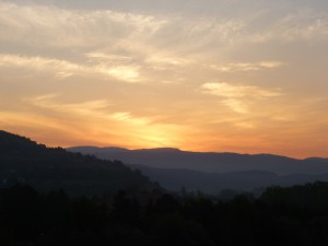 Sunrise, summer Visoko. 2012.