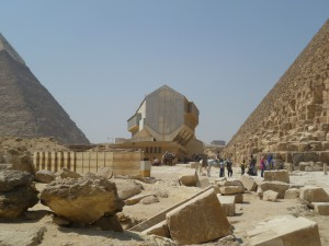 Giza Pyramids Boat 'shed'