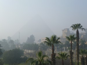 Morning view from Mena House